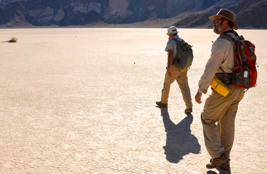 James Norris and Richard Norris at Racetrack Playa
